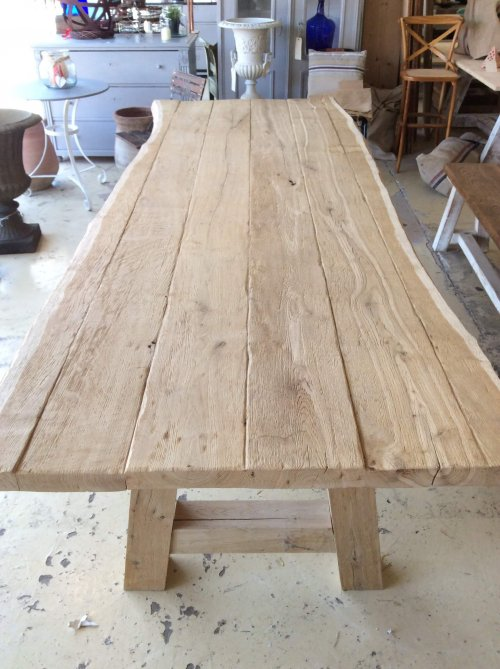 table dining large oak waney living