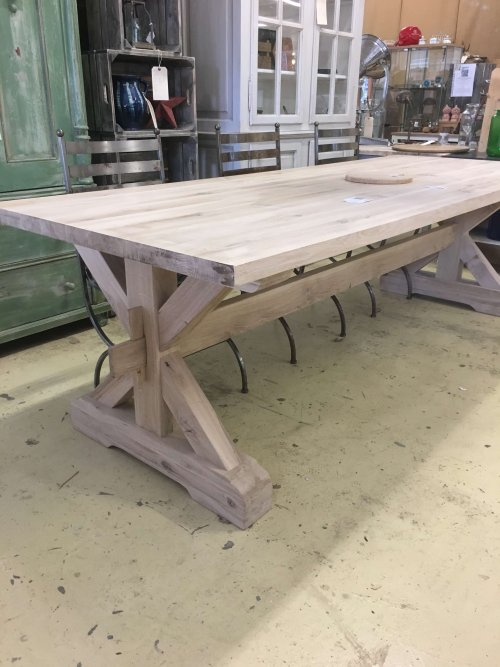 Large 3m oak table Tables Delivered. We have lots of different designs and sizes in stock that can be delivered in time for the festive season!