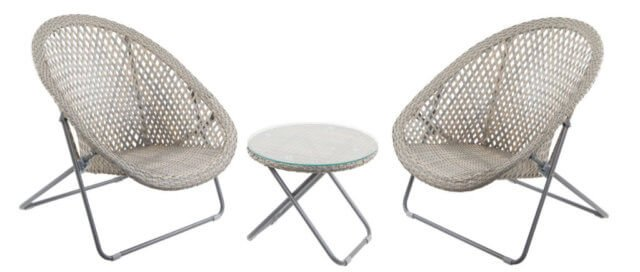Sale on garden furniture chairs table set