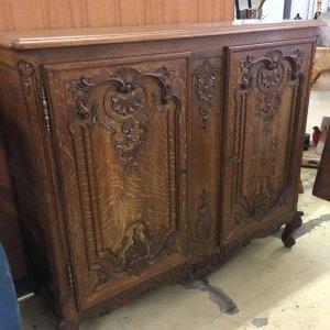 Sideboard, vintage French oak.