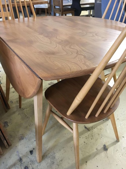 Ercol Dining Set drop leaf and chairs
