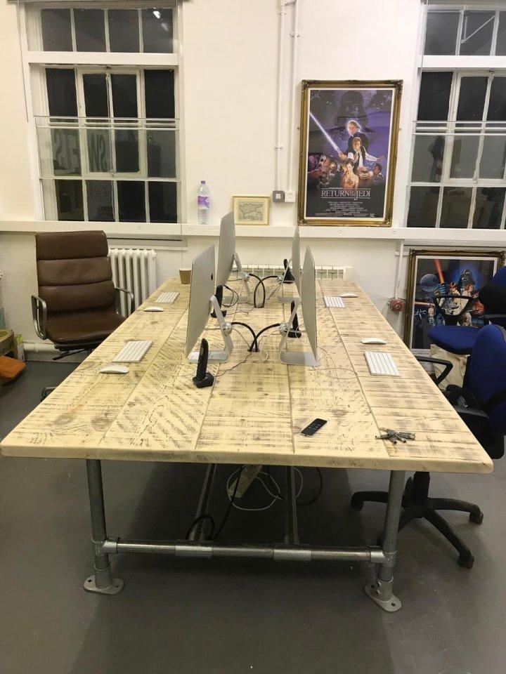 Bespoke Desk top reclaimed wood industrial