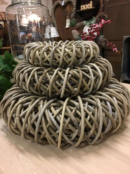 Wicker Rattan Rings. Beautiful chunky rattan ring/wreaths available from arkvintage.com with fast P&P. They bring an earthy vintage look to your home.