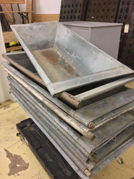Galvanised planters vintage back in stock. These were originally used to wash linen in Hungary
