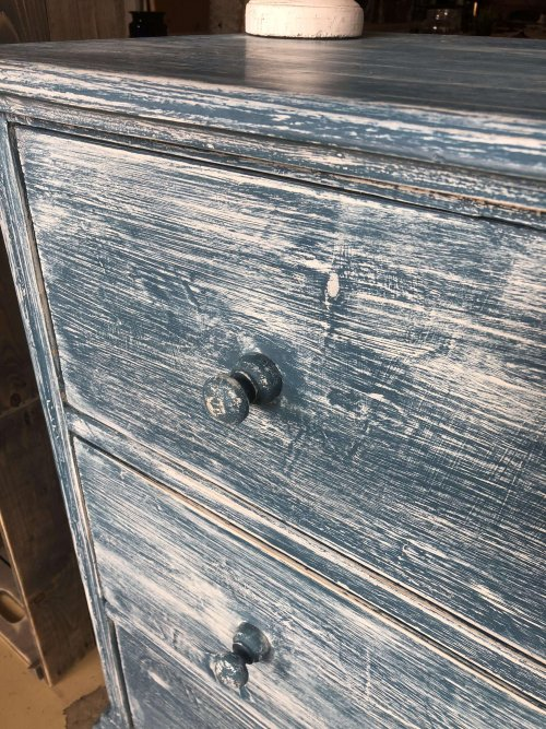 Large chest of drawers from France. vintage pine painted french