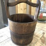 Vintage Wooden Buckets wood bucket rice water well old original