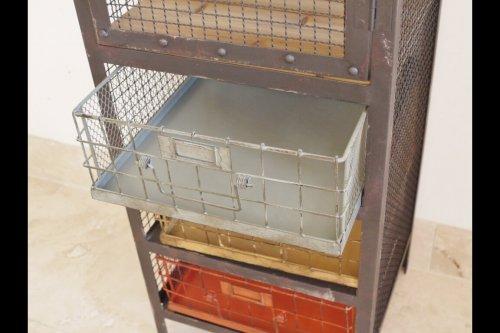 Metal Cabinet With Drawers industrial storage display draws