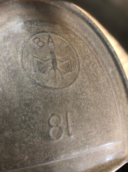 Vintage Galvanised Watering Can from arkvintage.com. This is an original old vintage watering can from France. It holds 8 litres of water and has a BAT makers stamp. Shop and buy now online