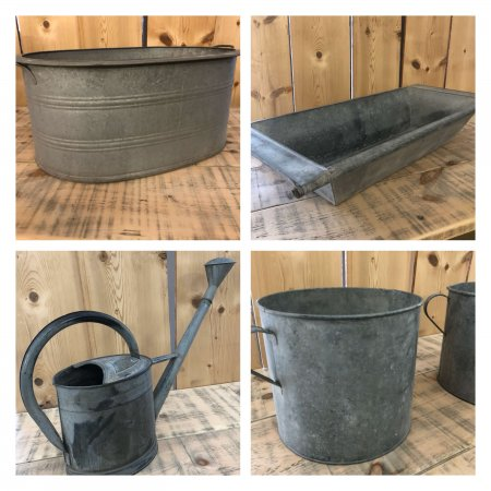 Vintage Galvanised Stock Now Online, and lots more being added all the time, at arkvintage.com shop buy online camberley surrey original antique metal