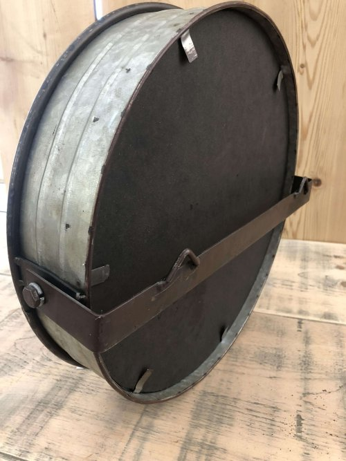 Round Metal Mirror from arkvintage.com. Round galvanised metal frame mirror with a gritty industrial look and feel. See pictures for more detail. Buy now online.