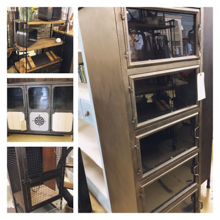 Industrial Metal Furniture in store now. Great urban look, other items available too.... vintage reclamation camberley surrey
