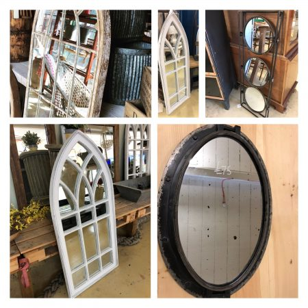Mirrors just arrived in stock for sale industrial wood metal garden