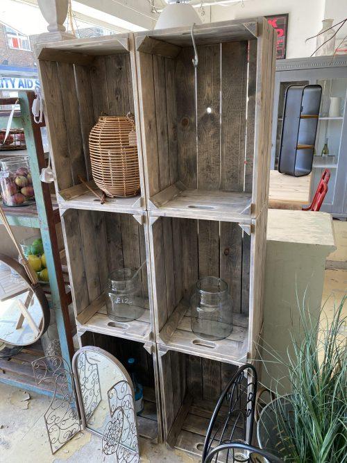 bushel crates storage decoration usful hand made reclaimed wood