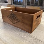Gin Box, stencilled wooden box