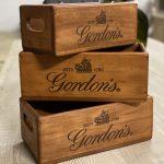 Gordon's gin boxes vintage style arkvintage surrey P&P postage camberley