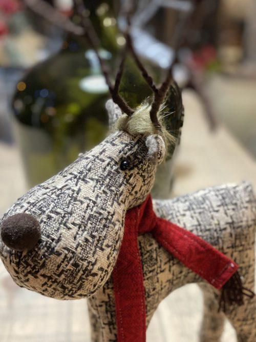 reindeer riendeer surrey fabric vintage style P&P buy online christmas