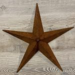 Metal Barn Stars from Arkvintage, made from welded steel, naturally rusted. Each star has a unique patina adding to it's charm. We love these for interior designs or for outdoor decoration in the garden or on the wall of your house.