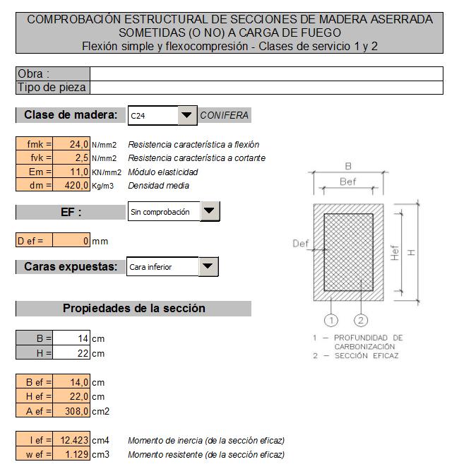 Cálculo de Estructuras: Vigas de madera (3/6)