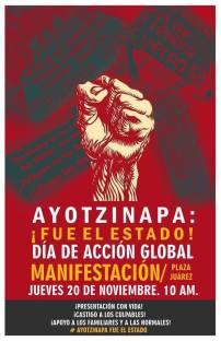 20N Acción global por Ayotzinapa