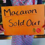 本日のマカロンは 売り切れました たくさんのご来店ありがとうございました(Instagram)