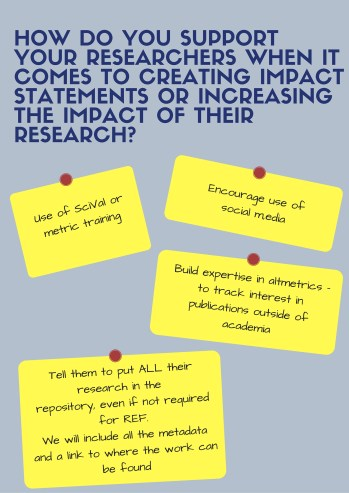 support for measuring impact