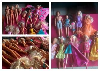 Alle Barbies zijn klaar om naar een feestje te gaan.