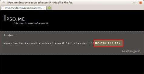 IPso.me découvre mon adresse IP - Avant proxy