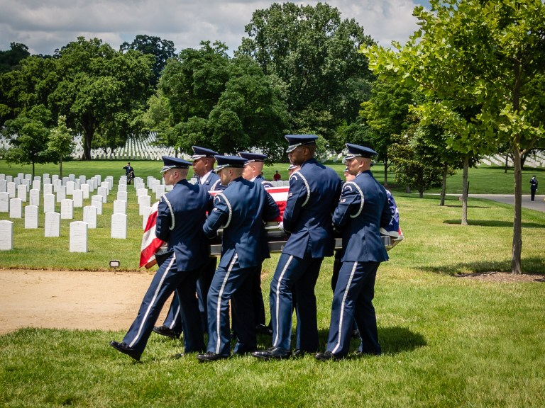 US Air Force Casket Team in Section 55