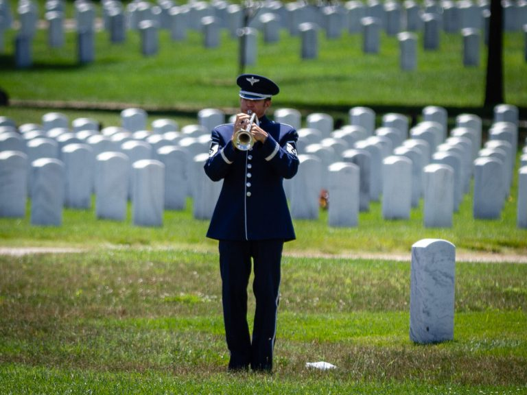 US Air Force Bugler in Section 55