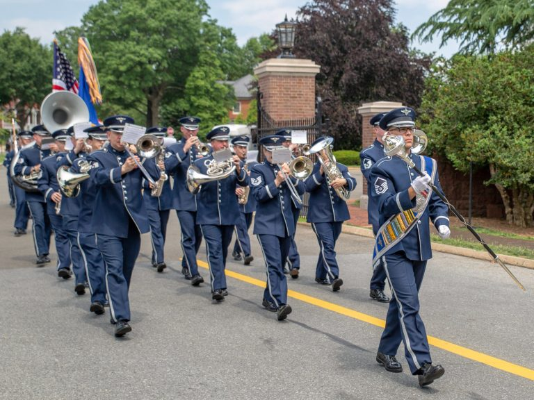 US Air Force Band Departing Old Post Chapel
