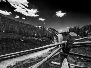 Larry Brady - Fence Post in the Rockies