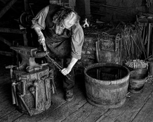 Blacksmith at Work - Ken Olsen