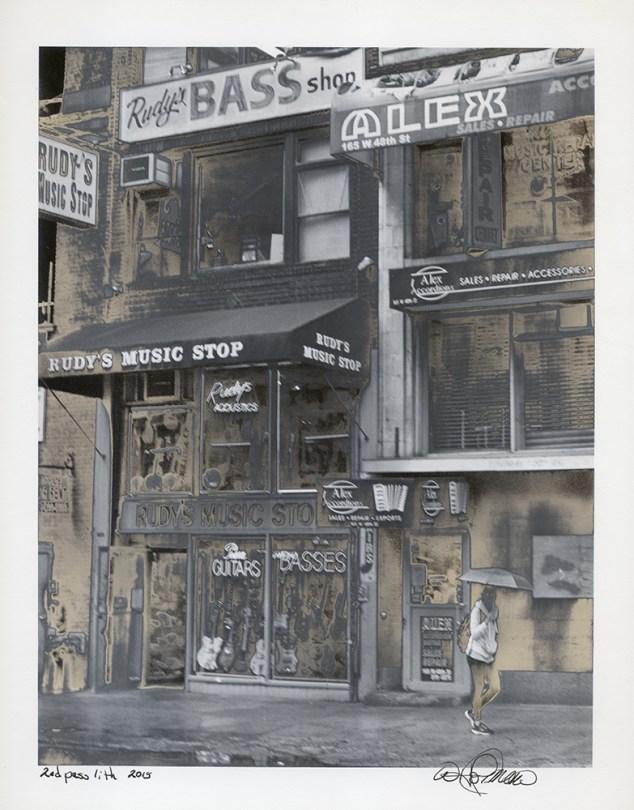 """""""Rudys Bass Shop"""" by Walt Hoffman"""