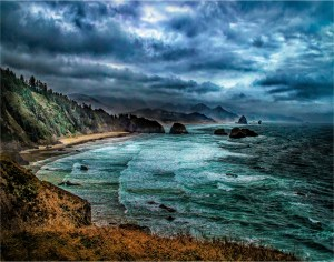 """Larry Arends - """"Angry Cannon Beach"""""""