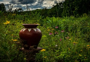"""Mike Garber - """"Urn with Wildflowers"""""""