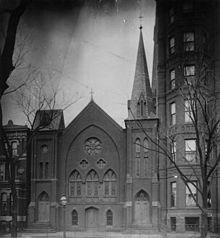 15th Street Presbyterian Church, Washington DC (c. 1899) held the Preparatory High School for Colored You in its basement