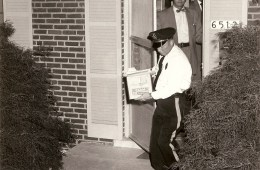 Early 1960's, Fritz Frederick at the door during the raid on one of George Lincoln Rockwell's Arlington homes.
