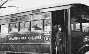 Robert May's bus line. c. 1930 (AHS)