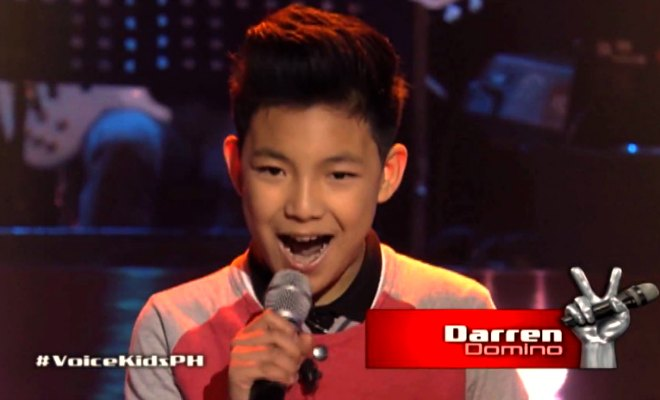 Canada-based Pinoy singing sensation Darren Espanto sets social media afire with 'The Voice Kids' blind audition, chooses Sarah G. as coach (1/5)