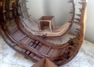 Сечение HMS Victory. Ребра жесткости трюма