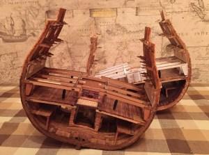 Сечение HMS Victory. Оборудование ордой-дека.