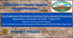 November 18, 2020: Challenges of Body Worn Cameras