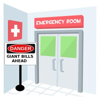 ER Door with Danger Sign