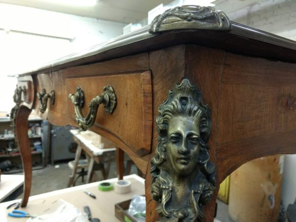 Antique desk refinishing