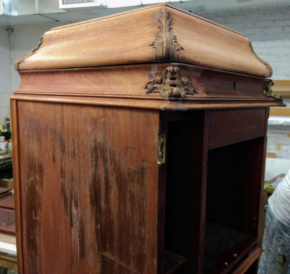 Refinish antique furniture - Diamond In The Rough: Antique Victrola Refinishing Armand Lee