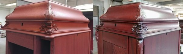 Refinish antique victrola