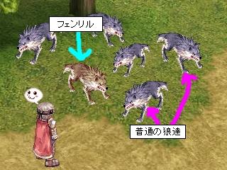 フェンリルと普通の狼達