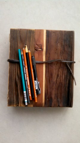 Reclaimed Wood Sketch Book Front