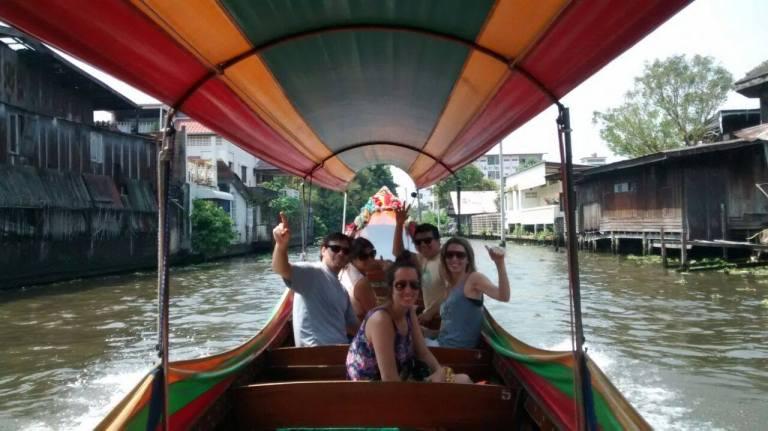 Paseo por canales del Chao Phraya