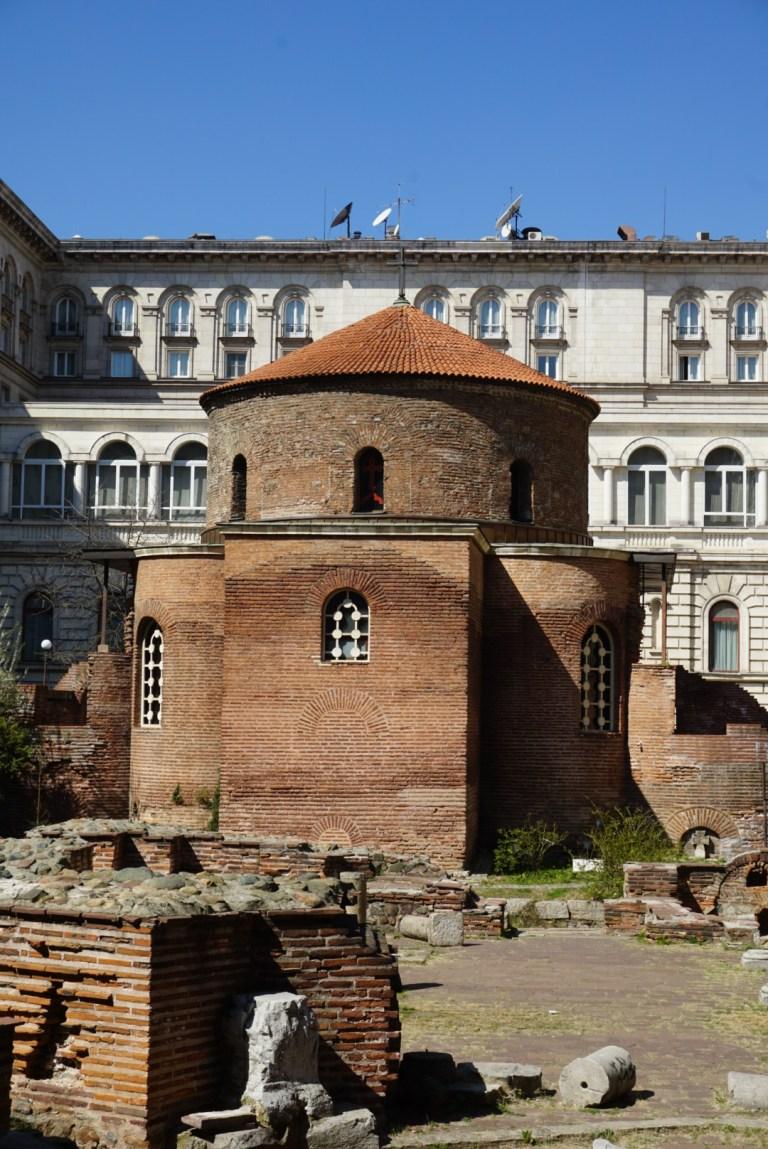 Iglesia San Jorge en Sofía Bulgaria, la iglesia ortodoxa más antigua de Europa del Este.
